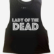 Lady of the Dead Crop Muscle top