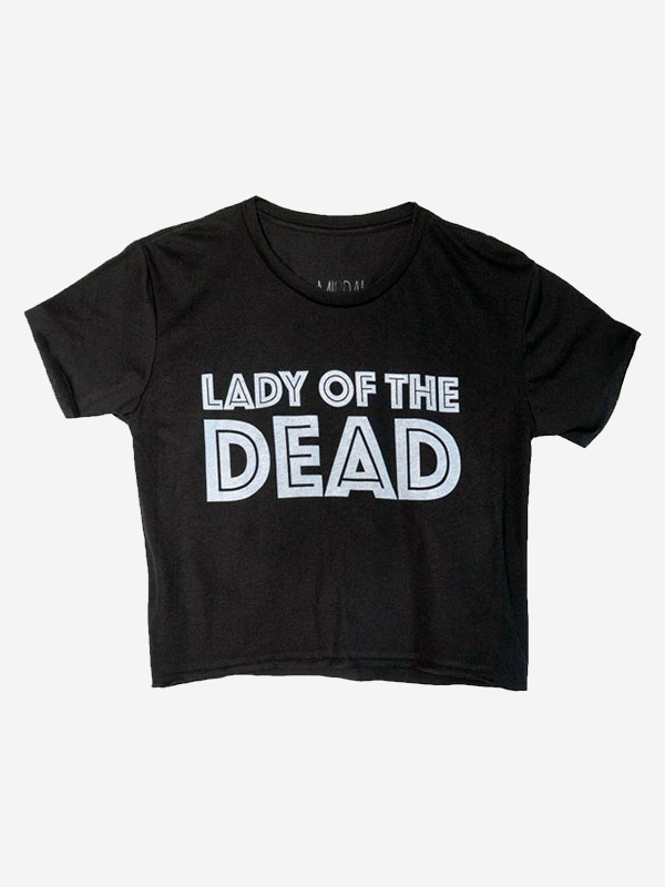 Lady of the Dead Crop Tee