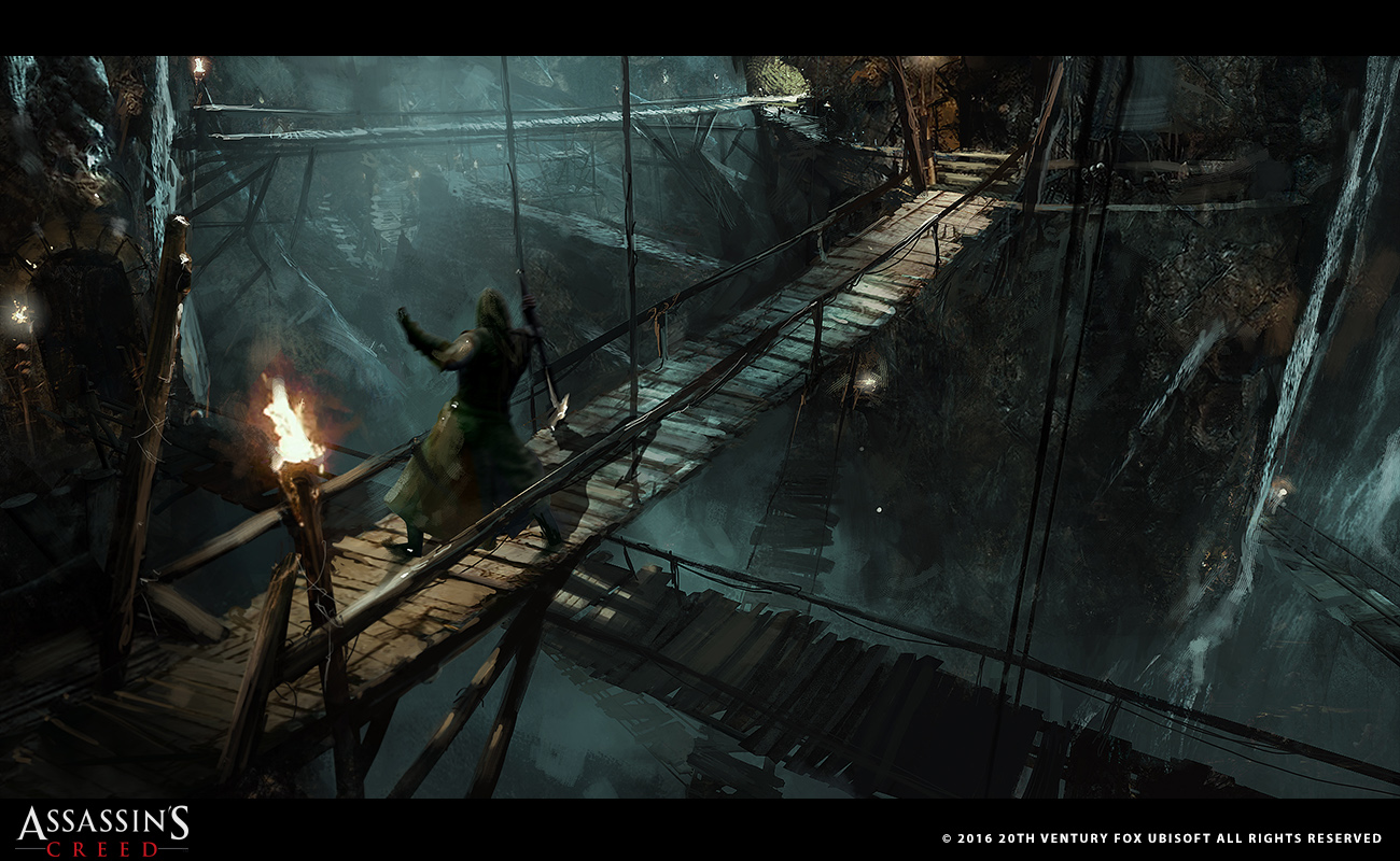Concept art of an area that did not make it to the final cut of the movie, resembling AC: Revelations
