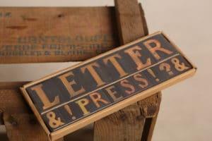 Letterpress Magnets $13