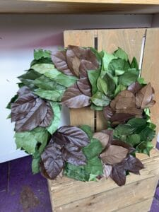 Dried Lemon Leaf Wreath $60