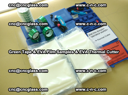 EVA FILM samples, Green tapes, EVA thermal cutter, for safety glazing (14)