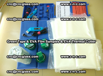 EVA FILM samples, Green tapes, EVA thermal cutter, for safety glazing (22)