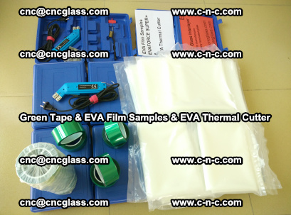 EVA FILM samples, Green tapes, EVA thermal cutter, for safety glazing (27)
