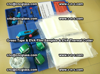 EVA FILM samples, Green tapes, EVA thermal cutter, for safety glazing (30)