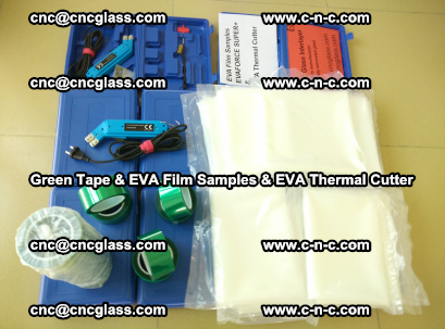 EVA FILM samples, Green tapes, EVA thermal cutter, for safety glazing (31)