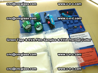 EVA FILM samples, Green tapes, EVA thermal cutter, for safety glazing (34)