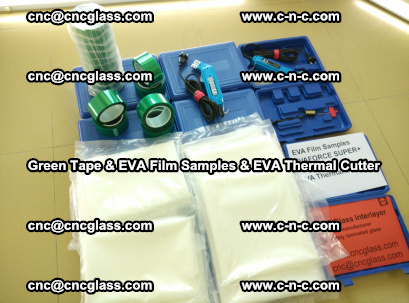 EVA FILM samples, Green tapes, EVA thermal cutter, for safety glazing (35)