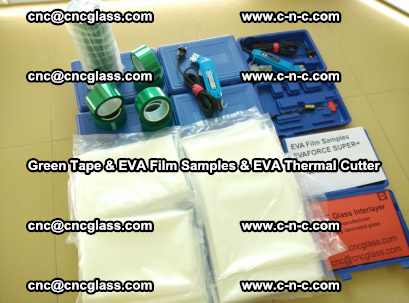 EVA FILM samples, Green tapes, EVA thermal cutter, for safety glazing (38)