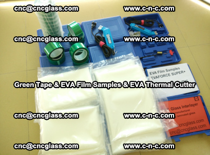 EVA FILM samples, Green tapes, EVA thermal cutter, for safety glazing (39)