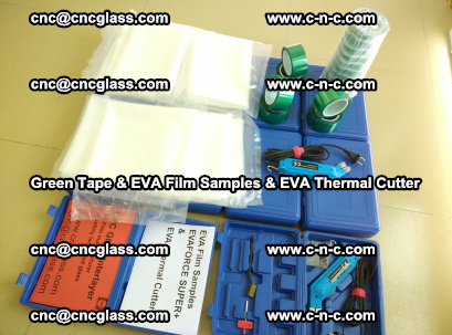 EVA FILM samples, Green tapes, EVA thermal cutter, for safety glazing (42)