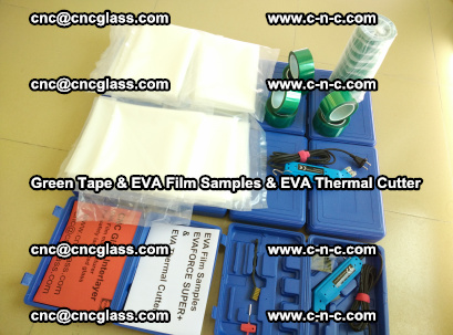 EVA FILM samples, Green tapes, EVA thermal cutter, for safety glazing (44)