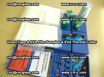 EVA FILM samples, Green tapes, EVA thermal cutter, for safety glazing (48)