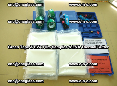 EVA FILM samples, Green tapes, EVA thermal cutter, for safety glazing (5)