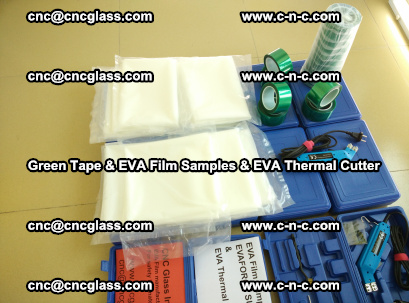 EVA FILM samples, Green tapes, EVA thermal cutter, for safety glazing (51)
