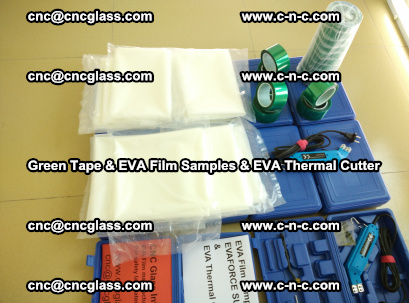 EVA FILM samples, Green tapes, EVA thermal cutter, for safety glazing (54)
