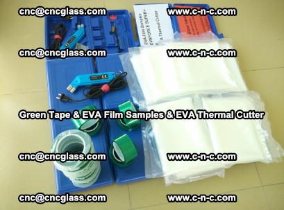EVA FILM samples, Green tapes, EVA thermal cutter, for safety glazing (55)