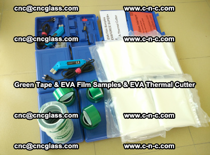 EVA FILM samples, Green tapes, EVA thermal cutter, for safety glazing (58)