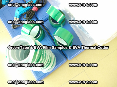 EVA FILM samples, Green tapes, EVA thermal cutter, for safety glazing (62)