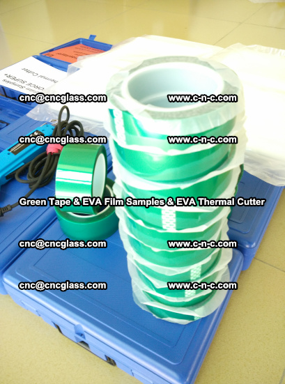 EVA FILM samples, Green tapes, EVA thermal cutter, for safety glazing (65)