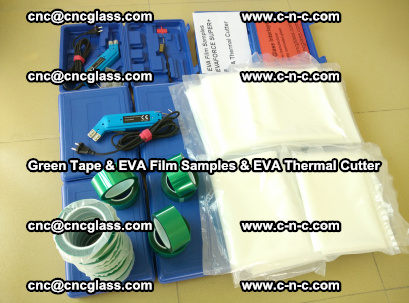 EVA FILM samples, Green tapes, EVA thermal cutter, for safety glazing (74)
