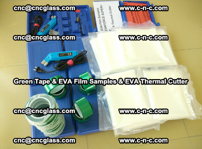 EVA FILM samples, Green tapes, EVA thermal cutter, for safety glazing (75)