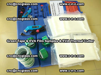 EVA FILM samples, Green tapes, EVA thermal cutter, for safety glazing (78)