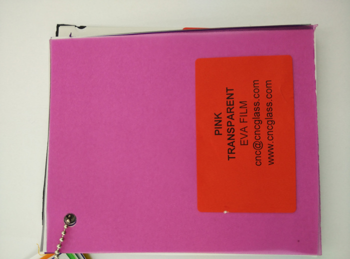 Pink EVAVISION transparent EVA interlayer film for laminated safety glass (24)
