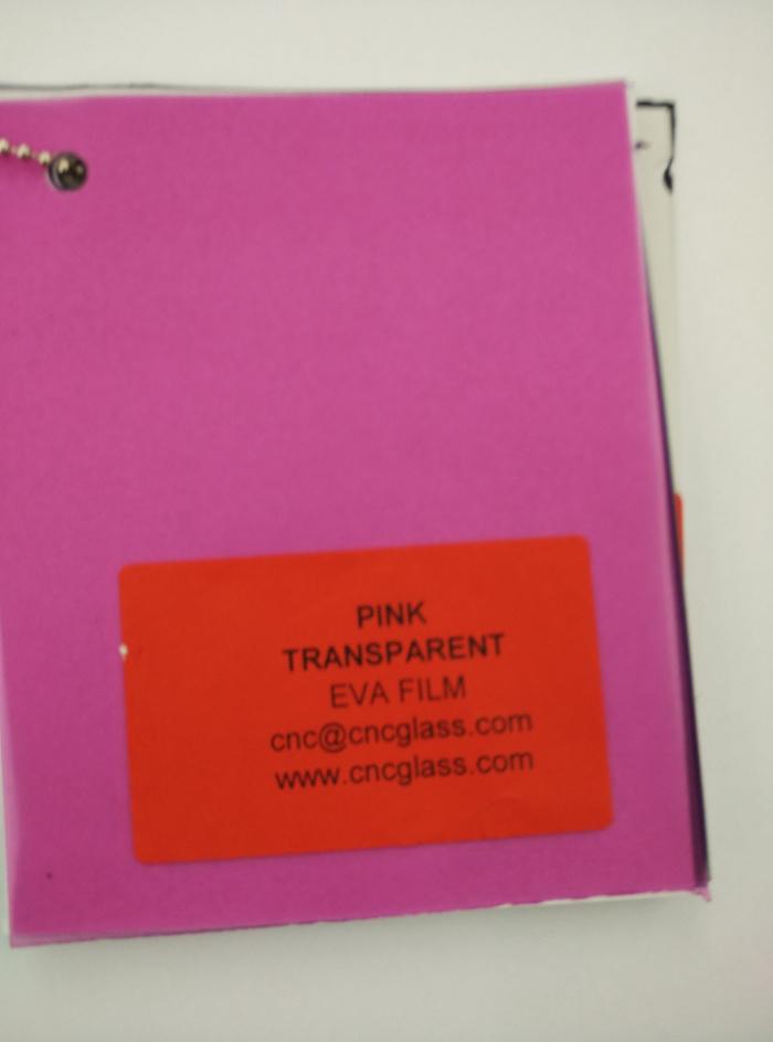 Pink EVAVISION transparent EVA interlayer film for laminated safety glass (3)