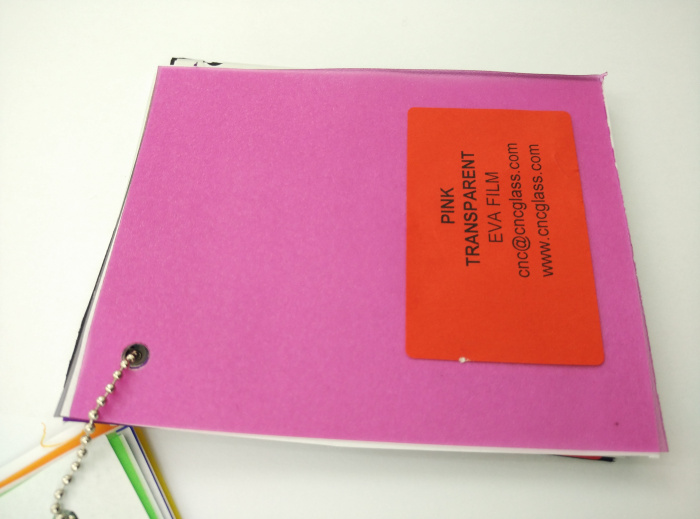 Pink EVAVISION transparent EVA interlayer film for laminated safety glass (40)