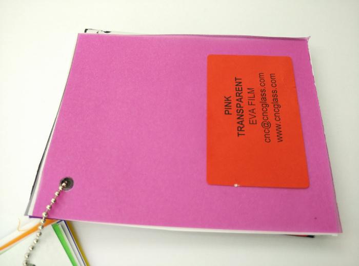 Pink EVAVISION transparent EVA interlayer film for laminated safety glass (41)