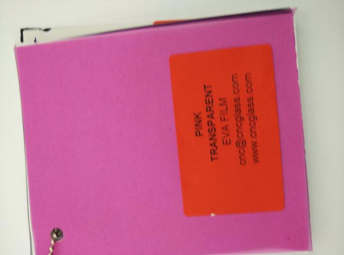 Pink EVAVISION transparent EVA interlayer film for laminated safety glass (45)