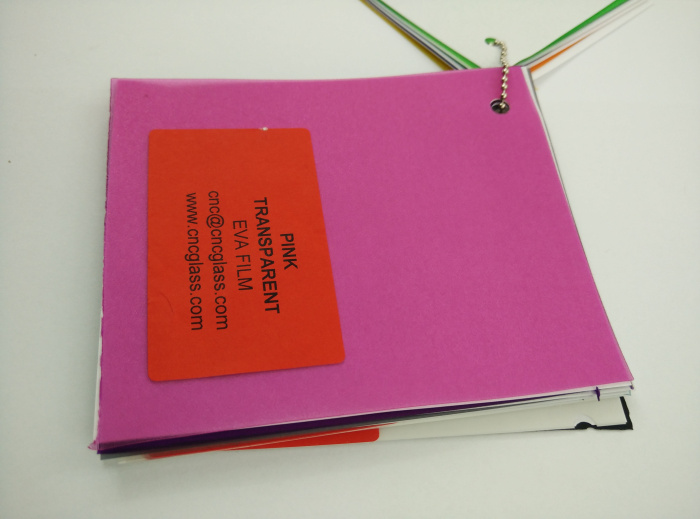 Pink EVAVISION transparent EVA interlayer film for laminated safety glass (48)
