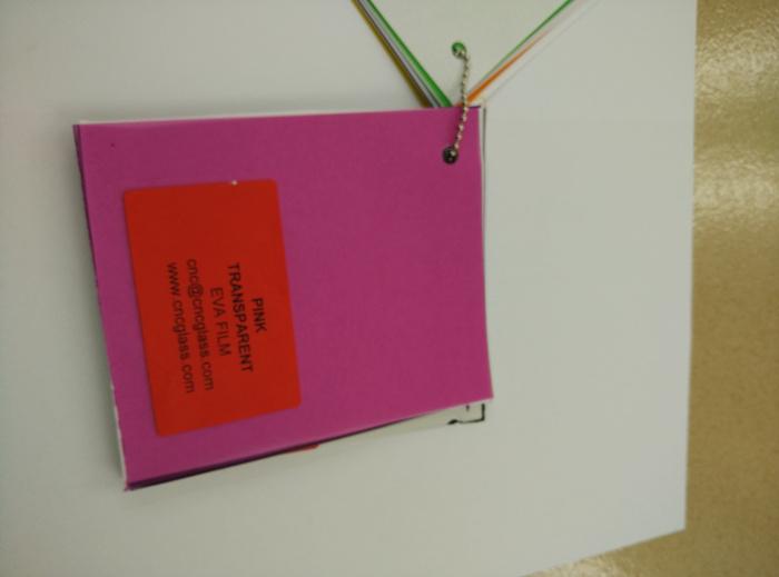 Pink EVAVISION transparent EVA interlayer film for laminated safety glass (53)