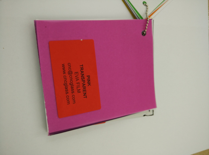 Pink EVAVISION transparent EVA interlayer film for laminated safety glass (56)