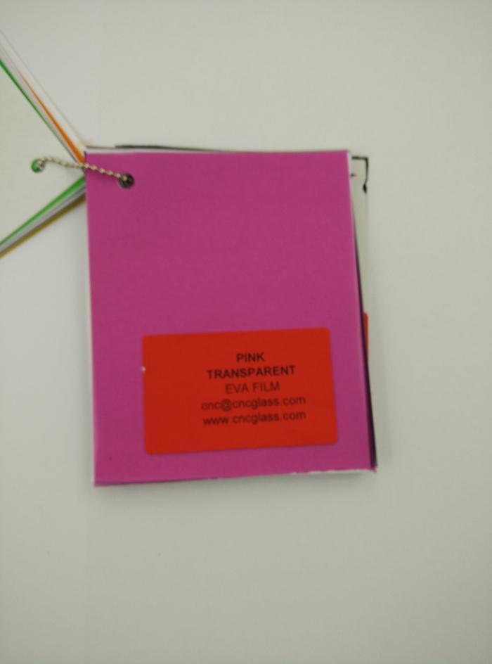 Pink EVAVISION transparent EVA interlayer film for laminated safety glass (64)