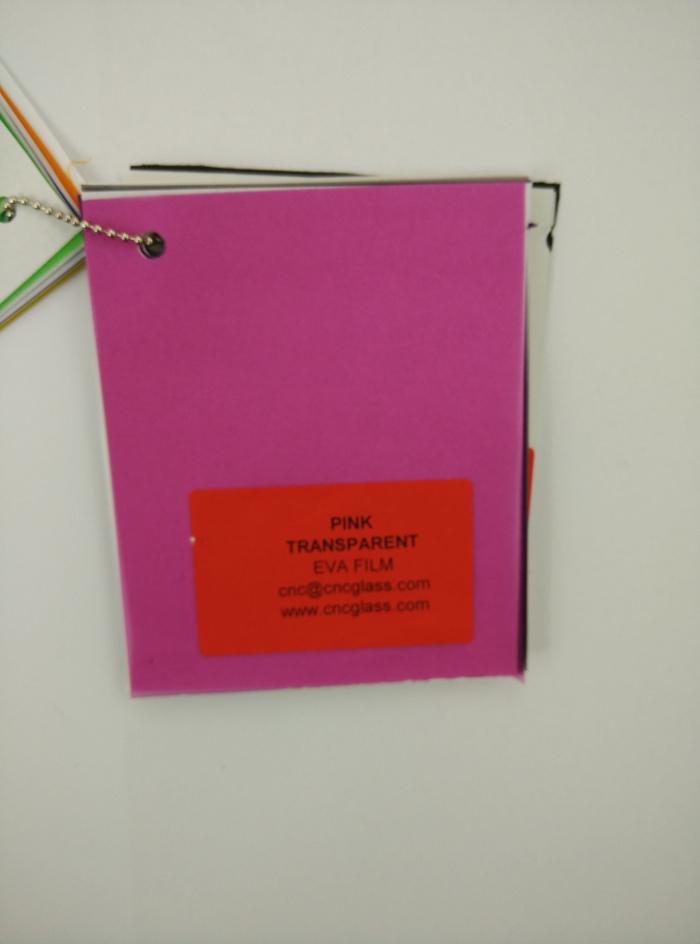 Pink EVAVISION transparent EVA interlayer film for laminated safety glass (69)