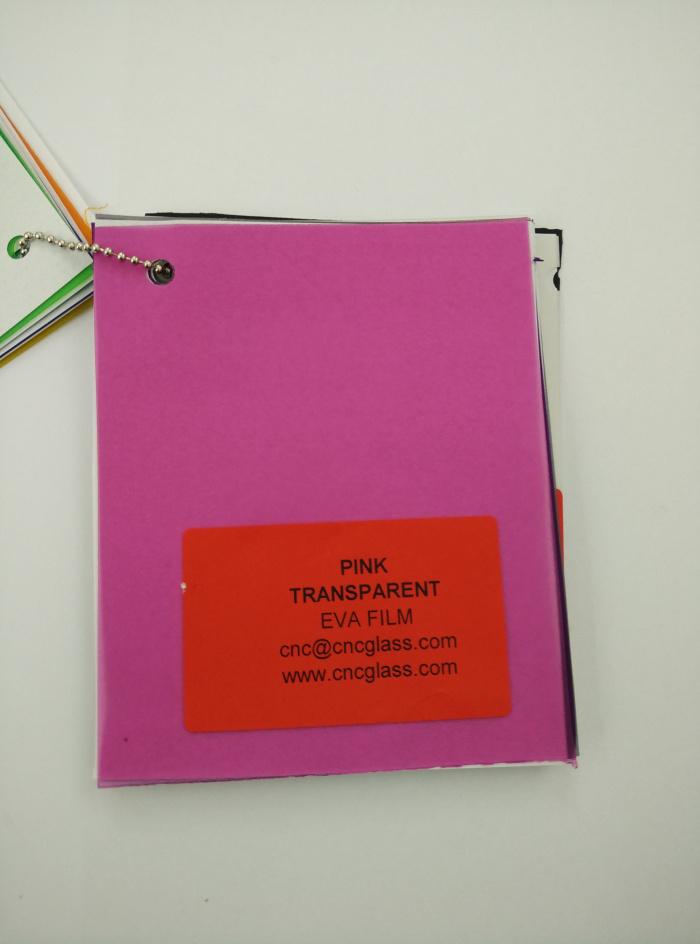 Pink EVAVISION transparent EVA interlayer film for laminated safety glass (8)