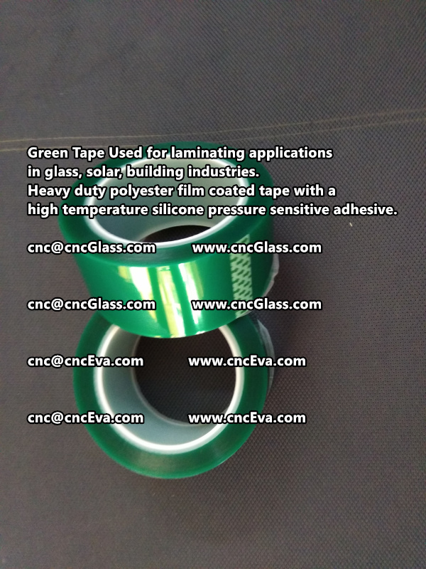 High temperature Polyester PET Green Tape for Powder Coating (1)