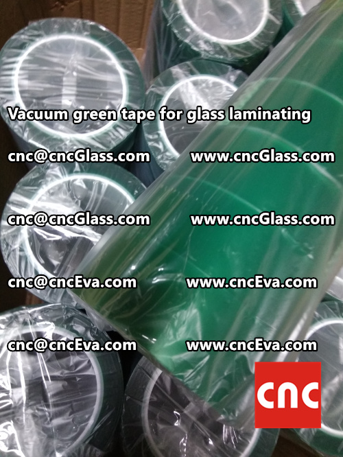 Vacuum green tape for glass laminating  (2)