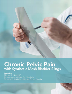 Cover of Chronic Pelvic Pain with synthetic mesh bladder slings book