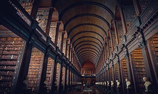 Image of a large legal library