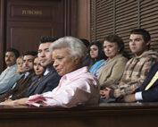 People sitting on a jury.