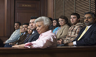 People sitting on a jury.