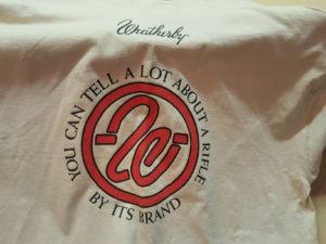 Weatherby circle brand T-shirt XXL $25