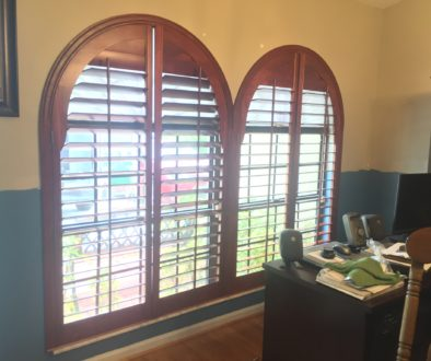 Plantation Shutter Arches, cost of plantation shutter arches, custom plantation shutter arches
