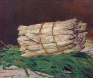Edouard Manet, A Bunch of Asparagus (1880), oil on canvas. Wallraf-Richartz Museum, Cologne.