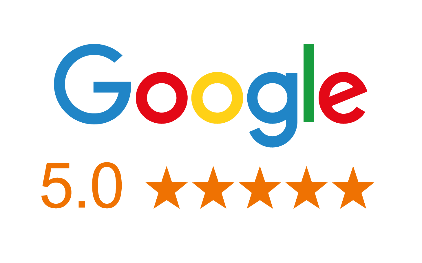 Google 5 Star rating image
