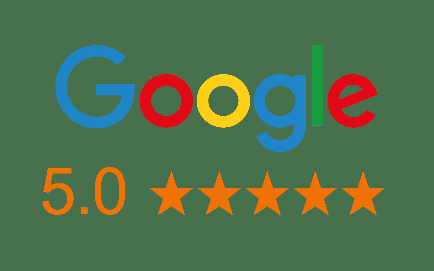 Google 5 Star rating image