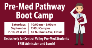 CHSU COM and CVHEC Offer Free Pre-Med Pathway Boot Camp